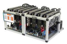 Shark Ethereum Zcash GPU Mining Rig 3600 Sol/s 240 MH/s 8x GTX1070 Crypto Miner