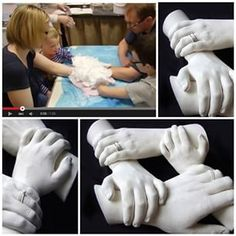 nice Family Hand Casting Read More byLiving for his Little Girl Family Hand CastingDiscover thousands of images about Family Hand CastingLiving for his Little Girl The Home of Body Casting in Scotland. Memories to last a lifetime, with the ones you l Plaster Hands, Diy Plaster, Plaster Crafts, Concrete Crafts, Crafts To Make, Crafts For Kids, Arts And Crafts, Diy Crafts, Arm Cast