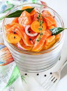 salted salmon w. carrots and coriander