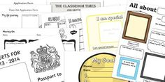 Transition Resource Pack - Transition resources, KS2, New Class, Printables, About Me, Poster, Writing Frame, Worksheet, Moving
