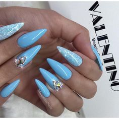 Baby blue almond nails #nails#nailart#stilettonails #MargaritasNailz#vetrogel#nailfashion#naildesign#nailswag#hairandnailfashion#nailedit#nailcandy#ombrenails#nailsofinstagram#nudenails#almondnails#nailaddict#nailstagram#naildesigns#instagramnails#nailsoftheday#nailporn#nailsonfleek#nailpro#naildesigns#ombrenailart#vetrousa#glitternails#valentinobeautypure#bluenails#teamvalentino