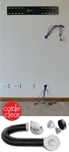 Hide TV cables inside the wall quickly and easily