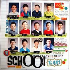 pinterest school scrapbook layouts | Layout: School Years