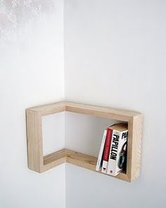corner bookcase - Sooo contemporary! LOVE IT!