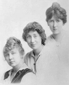 Tib, Betsy, and Tacy - also known as Midge, Maud, and Bick. From a biographical blog at the Maud Hart Lovelace Society.