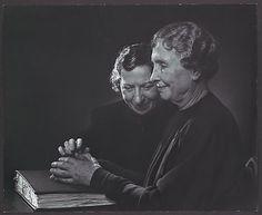 Helen Keller with Polly Thomson Yousuf Karsh  (Canadian (born Armenia), Mardin 1908–2002 Boston, Massachusetts) :: 1948 :: © Yousuf Karsh ::