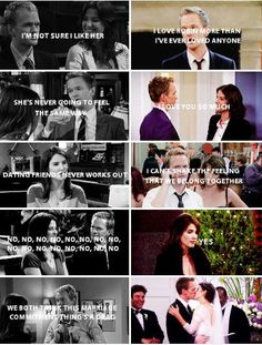 himym, robin, and barney image