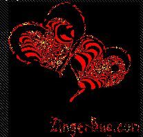 2 red hearts Glitter Graphic