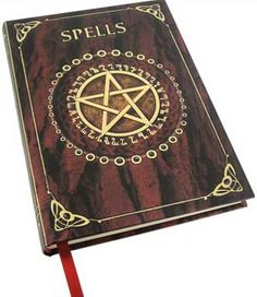 Spell Book Red journal [BBBU145] - $12.95 : Wicca, Pagan and Occult Practice Mega Store - www.thetarotoracle.com