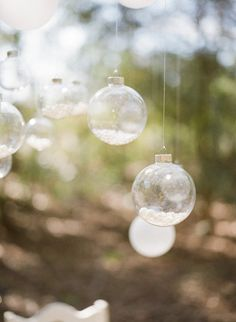 clear baubles