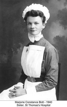 Sister Marjorie Bott 1940 St. Thomas Hospital London