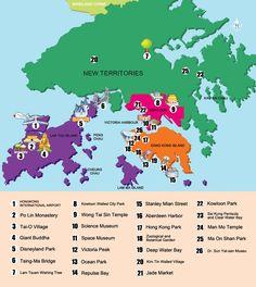 Hong Kong Maps, including Hong Kong Attraction Map and Hong Kong Transport Map, makes it easy for you to travel around Hong Kong. Hong Kong Tourist Attractions, Tourist Map, China Map, China Travel, Beijing Subway, Kowloon Walled City, Transport Map, Victoria Harbour, Subway Map