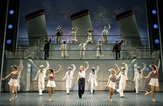Sutton Foster as Reno Sweeney and the cast of Anything Goes.