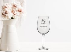 """Thanks for the kind words! ★★★★★ """"This item is exactly as described and shipped in individual boxes to protect against breaking. They were the perfect gift for some of my guests!"""" Jennifer L. http://etsy.me/2k2tLnA #etsy #housewares #engraved #champaign #glasses #personalized #cu"""