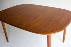 Danish Modern Teak Dining Table   From a unique collection of antique and modern dining room tables at https://www.1stdibs.com/furniture/tables/dining-room-tables/