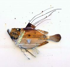 Metal Crafts, Diy And Crafts, Steel Art, Fish Design, Fish Art, Wood Wall Art, Sea Crafts, Recycling, Sculpture