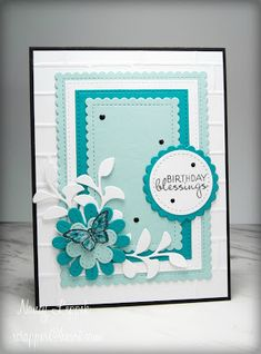 Seize the Birthday: Teal and White! Cricut Birthday Cards, 70th Birthday Card, Birthday Presents For Mom, Homemade Birthday Cards, Girl Birthday Cards, Birthday Cards For Women, Homemade Cards, Butterfly Cards, Flower Cards
