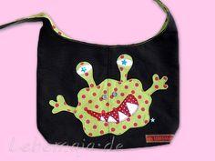 Shopper - Kindershopper Kindertasche zum Wenden Monster - ein Designerstück von Lebemaja bei DaWanda