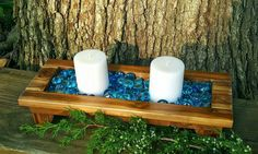 Check out this item in my Etsy shop https://www.etsy.com/listing/456924604/wooden-candle-holder-wood-candle-tray