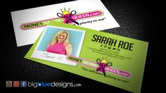 Money Saving Queen business card design