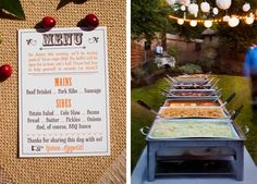 A bbq buffet for a backyard wedding is perfect