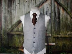 Pure Classic Go well with Vest 1960 Mens Go well with Waistcoat Windowpane - Best Suit's Suit Vest, Cool Suits, Mens Suits, Pure Products, Mens Fashion, Skid Row, Classic, Men's Jackets, Groomsmen