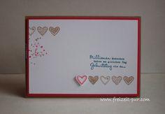 StampinUp! Valentinstag, Herzen, Hochzeit, Language of Love, Anlässlich,  Georgeous Grunge