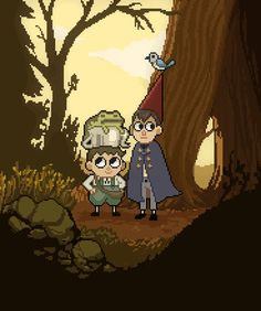 ArtStation - Over the Garden wall Pixel animation, Kylie O'Neil