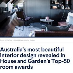 House and Garden, October 2018 - Winner of Top 50 Rooms Beautiful Interior Design, Beautiful Interiors, Most Beautiful, October, Rooms, Garden, Top, House, Bedrooms