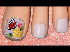 Manicure And Pedicure, Gel Nails, Lily, Nail Art, Make It Yourself, Nail Art Flowers, Nice Nails, Nail Bling, Designed Nails