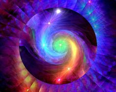 """Not only do our chakras need to be open, balanced, and aligned, they also need to flow and work together as a whole. """"Chakra Swirl"""" is intended to assist with that harmony and flow, with the green heart chakra acting as a bridge between the upper and lower chakras."""