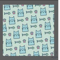 En MrBone Design nos gustan las mascotas. Tener un gato es una gran alegría que nos llena el corazón. Disfruta de este bonito diseño dedicado a nuestros animales que siempre nos acompañan a donde quiera que vamos.  Regala a tu pareja, familia o amig@s este divertido diseño de huellas, gatos y espinas de pescados . ¡Seguro que les encantará! footprint, paw, cat, animal, pattern, background, pet, how, draw, makingof, work, progress kitten, cute, foot,  wallpaper, fish, kitty, veterinary… Easy Doodles Drawings, Easy Doodle Art, Art Drawings For Kids, Simple Doodles, Kawaii Drawings, Drawing For Kids, How To Doodle, Simple Cat Drawing, Halloween Doodle