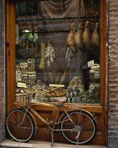 Ever notice how popular bikes are in displays? store front utilizes height