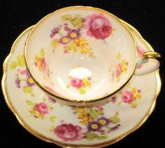 EB Foley SURREAL Tulip Rose #Tea #cup #and #saucer