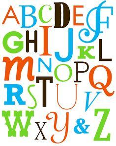 Alphabet printable for home decor