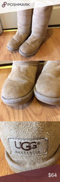 UGG classic tall boots woman size 7 Used condition please look at pictures for condition where inside and out dirt on suede where on bottom smoke-free pet free home boots only thank you no returns please ask all questions prior to purchase thank you UGG Shoes Winter & Rain Boots