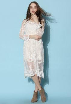 Chicwish - Boho Breeze Sheer Lace Dress.
