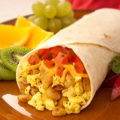 I love breakfast. I enjoy burritos, but not all the fatty fat that comes with it. This would be something to try for sure!