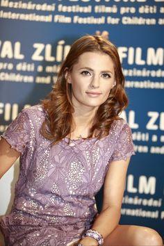 Stana Katic at Zlín Film Festival, Czech Republic