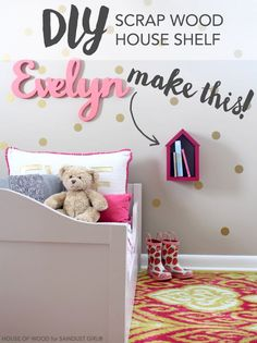Adorable shelf made out of scrap wood! MUST MAKE THIS!