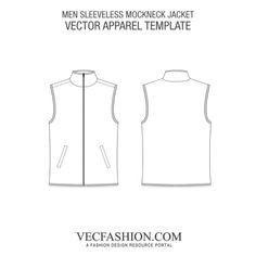 Men Sleeveless Mockneck Jacket Flat Drawings, Nudie Jeans, Fashion Sketches, Mock Neck, Gemini, Contrast, Menswear, Bohemian, Kit