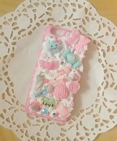 Coque iphone 6 / 6s decoden chantilly rose et par PrettyChantilly