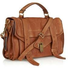 Leather satchel for school