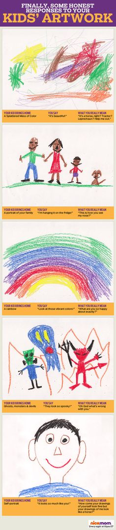 Finally, Some Honest Responses To Our Kids' Artwork