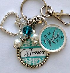 Inspirational Gift Personalized keychain It is What it by TrendyTz, $25.99