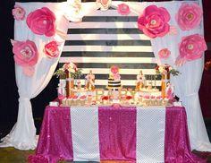 Amazing Kate Spade Inspired Baby Shower Dessert Table