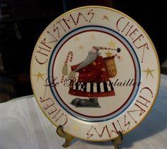 Williraye Studios Christmas Cheer ~ 'Cookies for Santa' plate ... in my shop now!