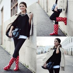 Gunnel´s Zuecos Wellies Boots, Queens Wardrobe Sweater, Marc By Marc Jacobs Bag, Mango Necklace