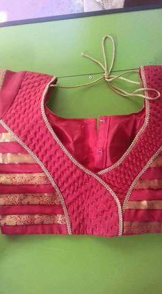 Patch Work Blouse Designs, Simple Blouse Designs, Blouse Back Neck Designs, Cotton Saree Blouse Designs, Salwar Neck Designs, Gala Design, House Of Blouse, Designer Blouse Patterns, Blouse Models