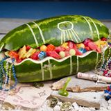 Watermelon Treasure Chest - Watermelon carving is so much fun especially when you can carve Treasure Chest! Simply follow the instructions and gather the necessary materials and lets get started carving watermelons! - 12-28-2014